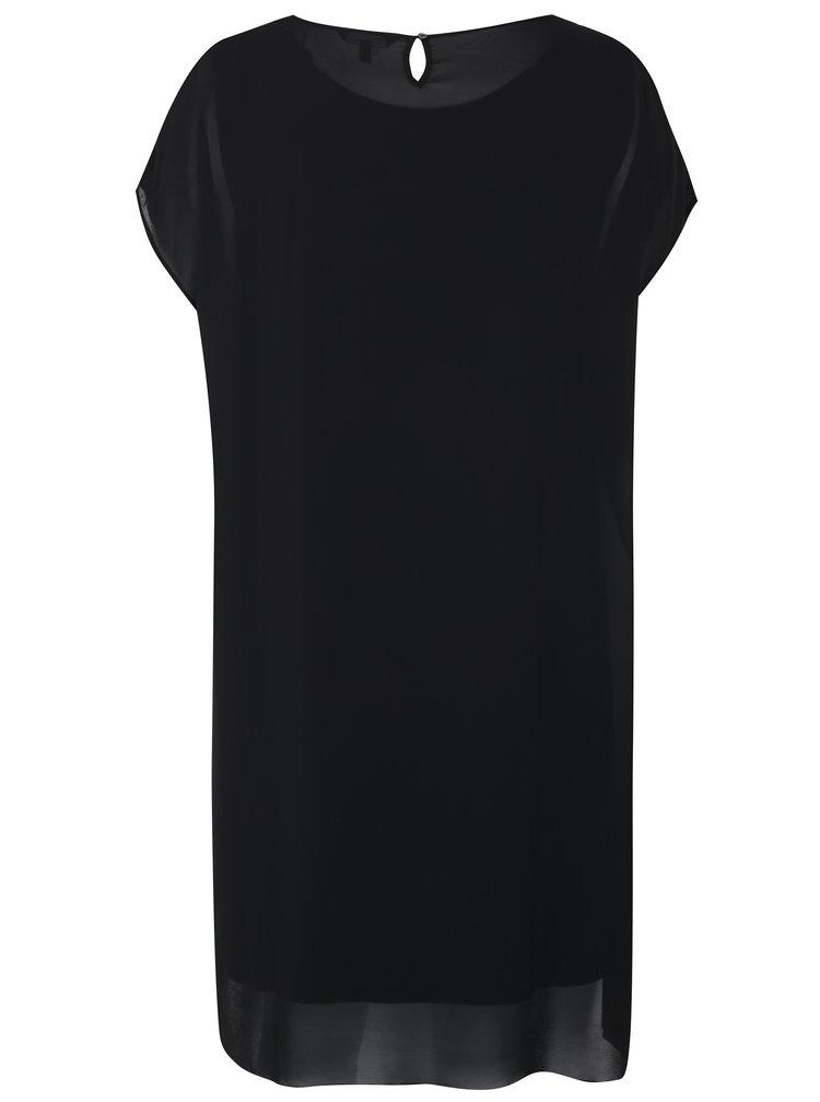 Černé šaty s flitry Ulla Popken