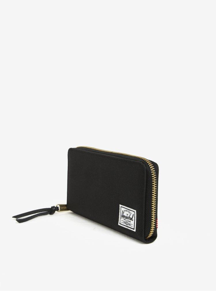 Černá peněženka na zip Herschel Supply Thomas