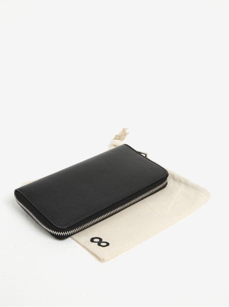 Černá kožená peněženka ZOOT