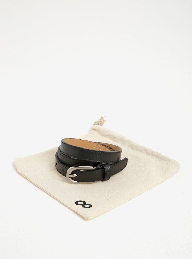 Čierny kožený úzky opasok ZOOT