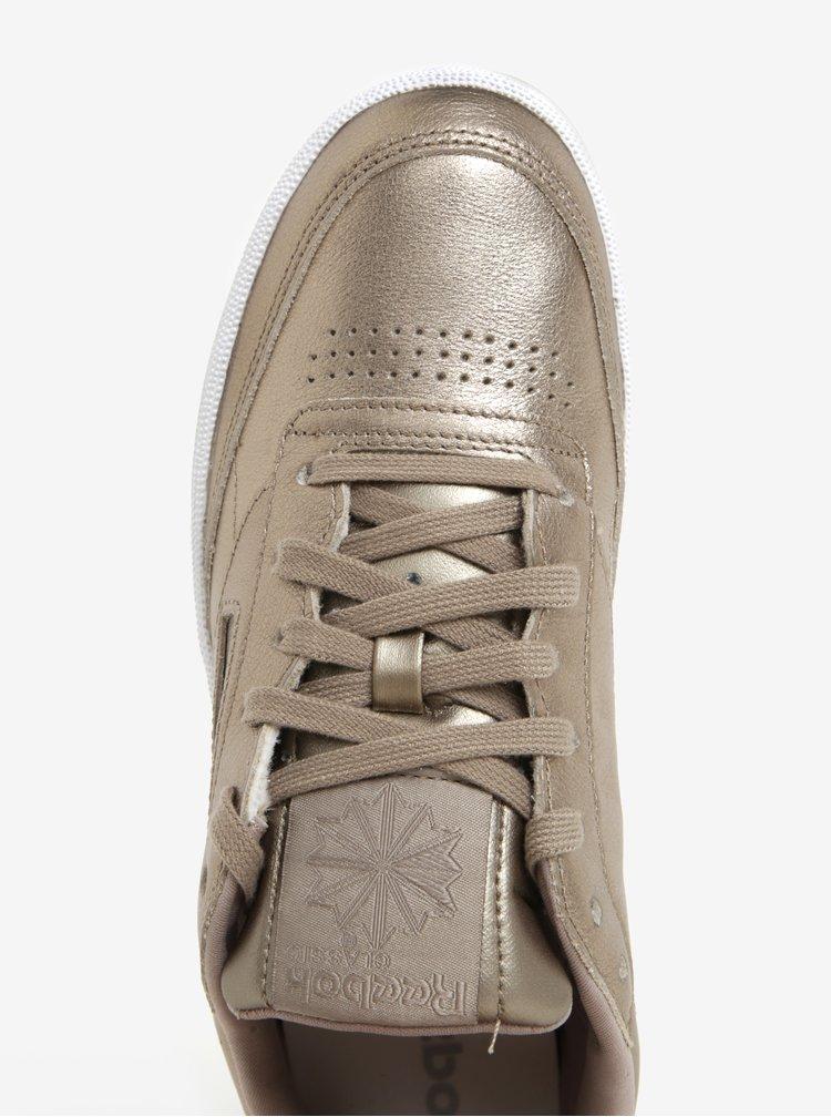 Dámské kožené tenisky v zlaté barvě Reebok Club C 85 Melted Metal