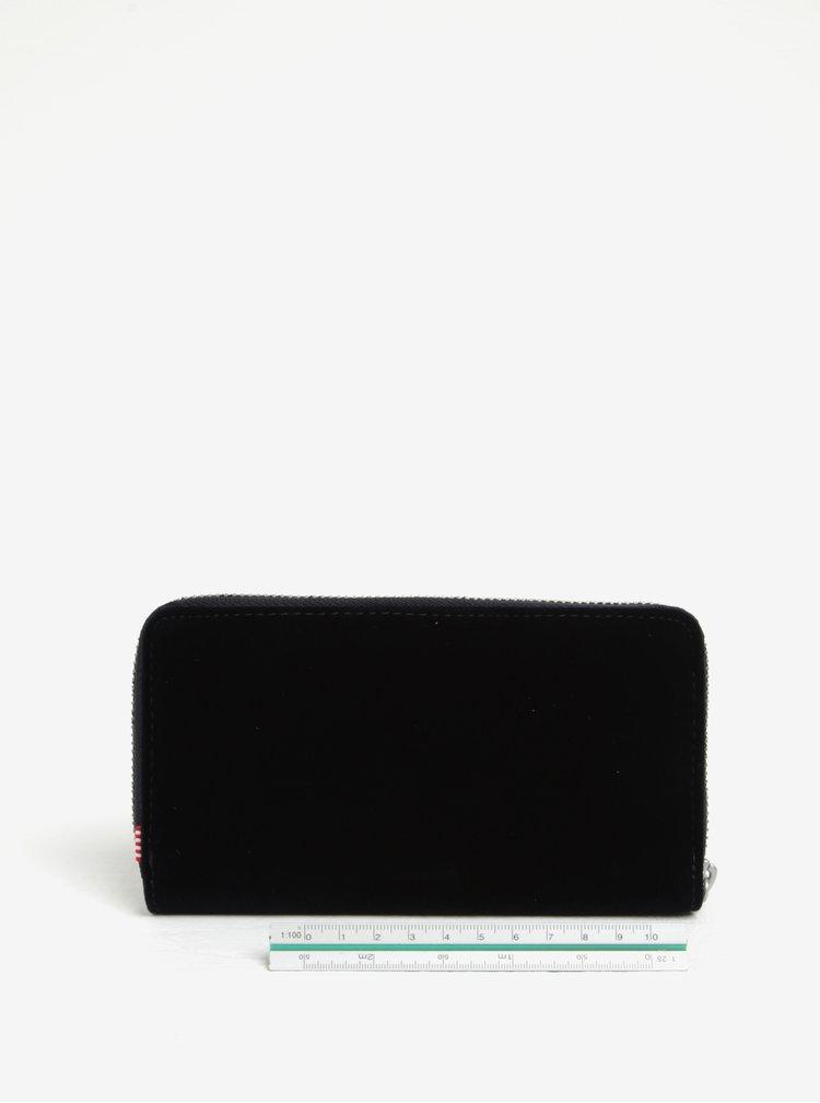 Tmavě modrá dámská sametová peněženka Herschel Thomas