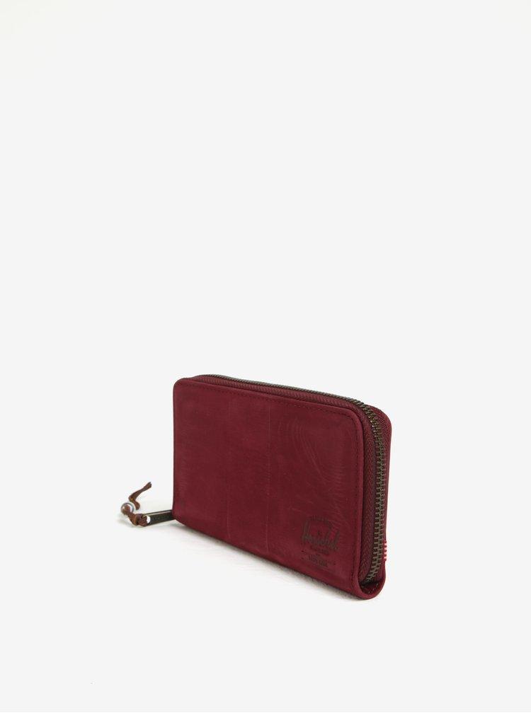 Vínová dámská kožená peněženka Herschel Thomas