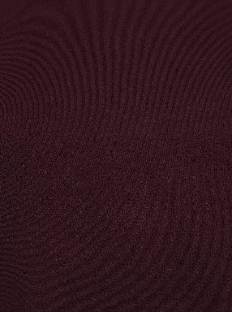 Vínové tričko s volánem a dlouhým rukávem Ulla Popken