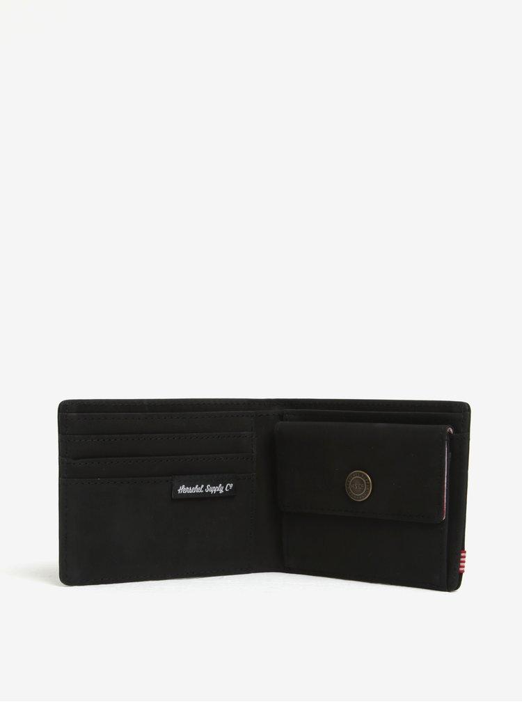 Černá pánská semišová peněženka Herschel Hank