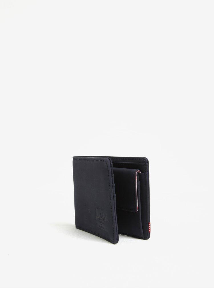 Tmavě modrá pánská semišová peněženka Herschel Hank