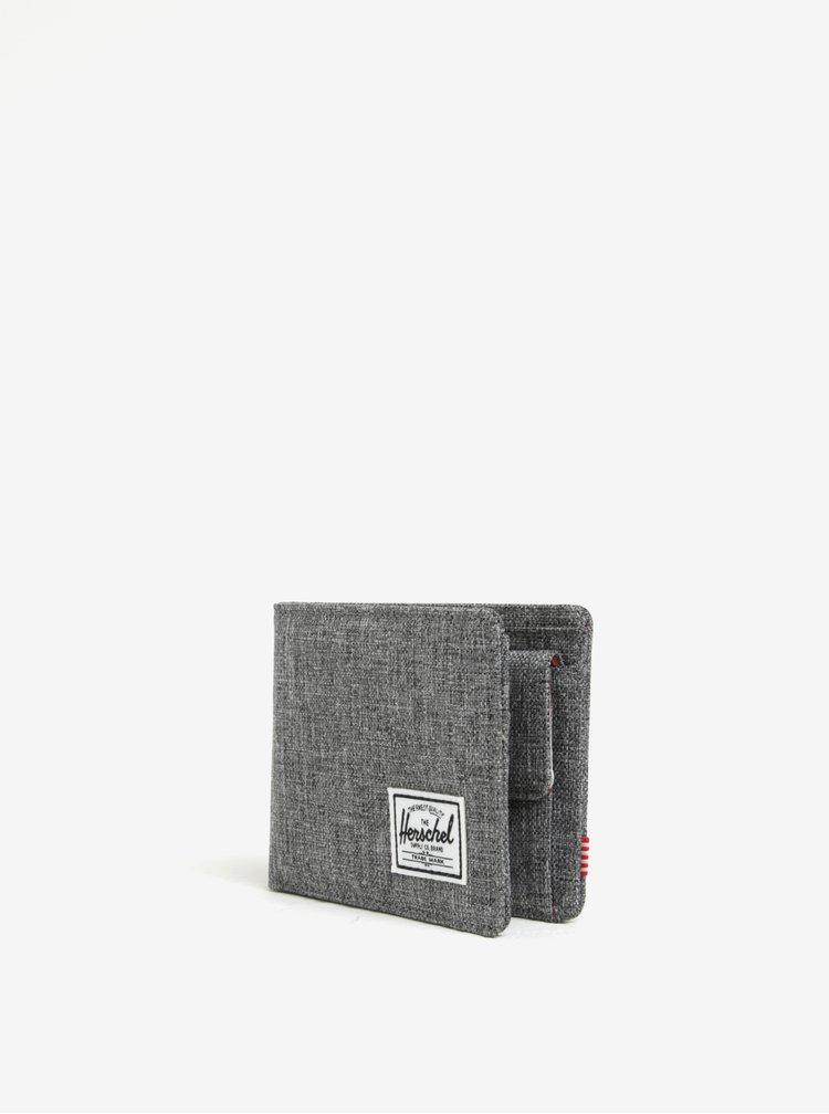 Šedá pánská žíhaná peněženka Herschel Roy