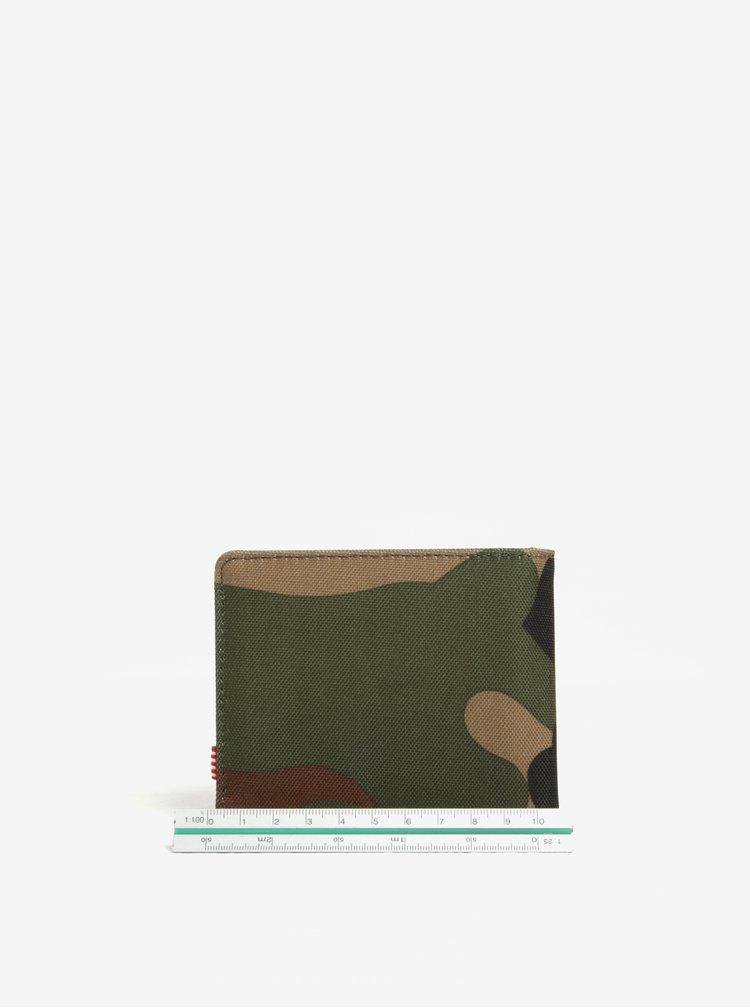 Zelená pánská maskáčová peněženka Herschel Roy