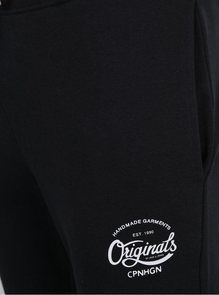 Čierne tepláky Jack & Jones Originals Softneo