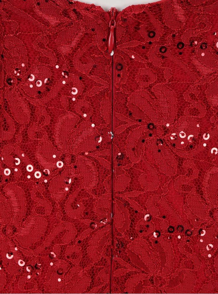 Červené krajkové maxišaty s průstřihem na zádech Scarlett B