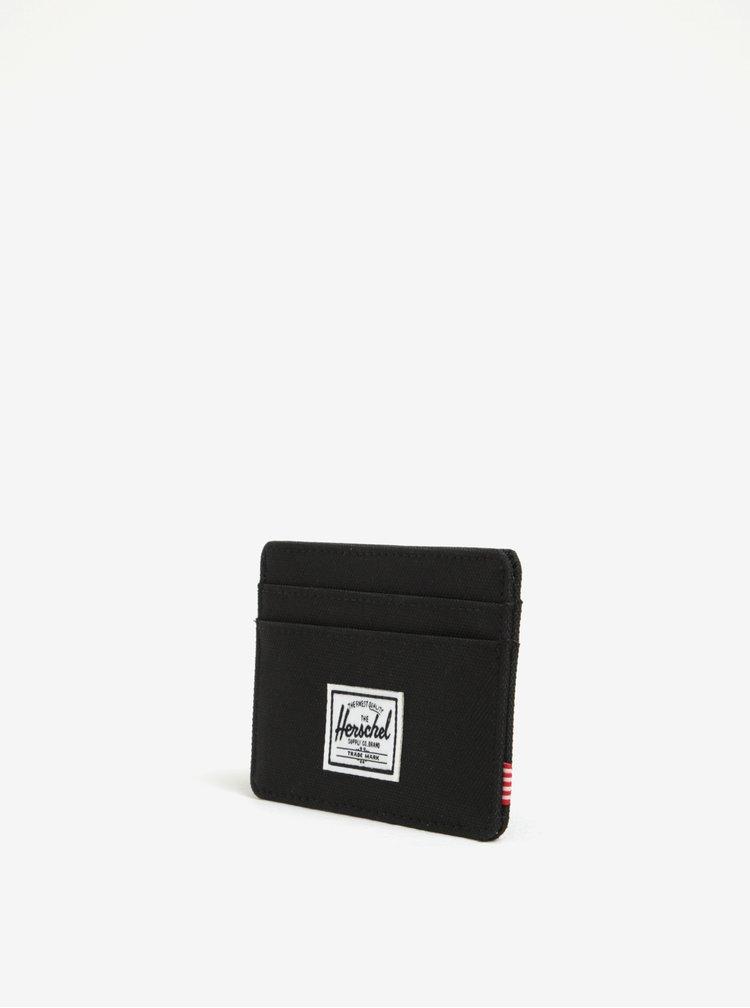 Černá pánské pouzdro na karty Herschel Charlie