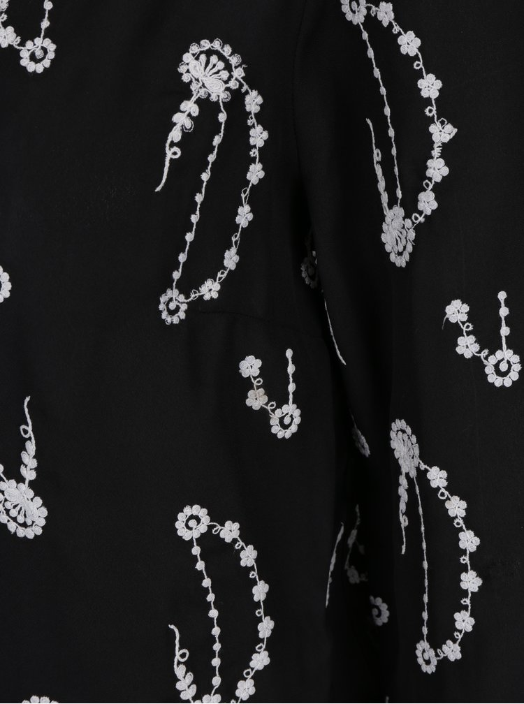 Černý průsvitný kardigan s výšivkou  M&Co