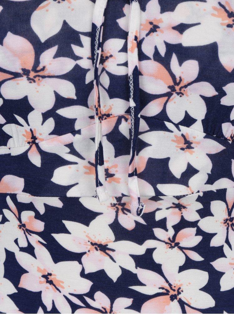 Tmavě modrá květovaná košilka M&Co