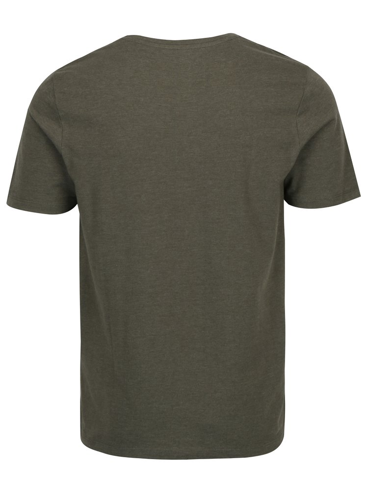 Khaki tričko s potiskem Jack & Jones Core Booster