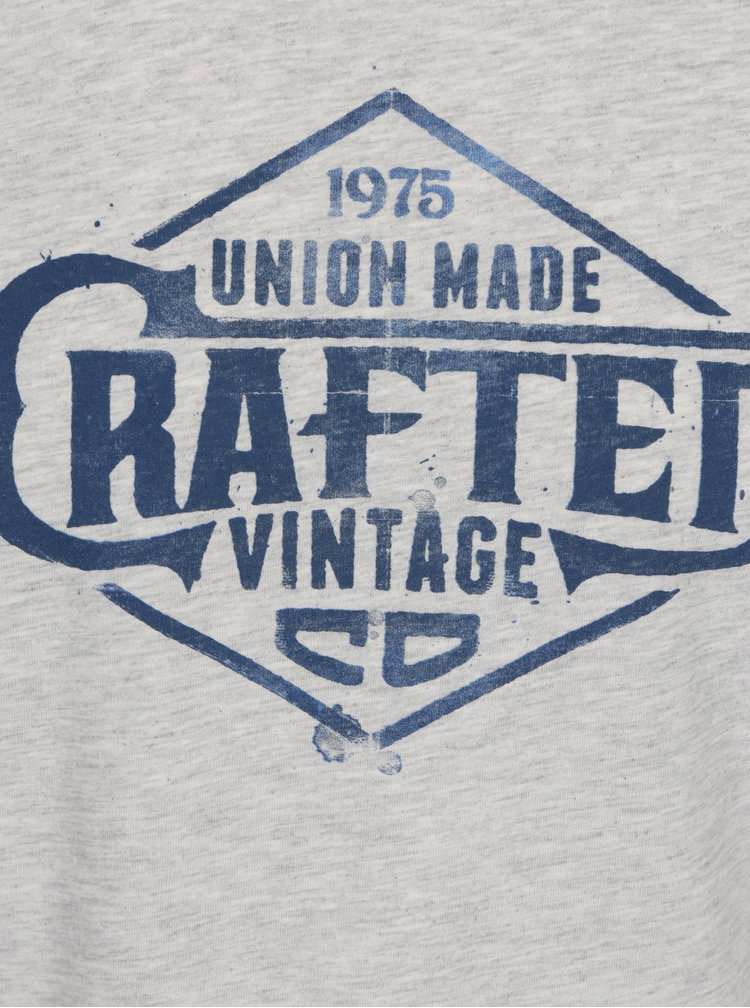 Světle šedé žíhané tričko s potiskem Jack & Jones Vintage Recycle Adam