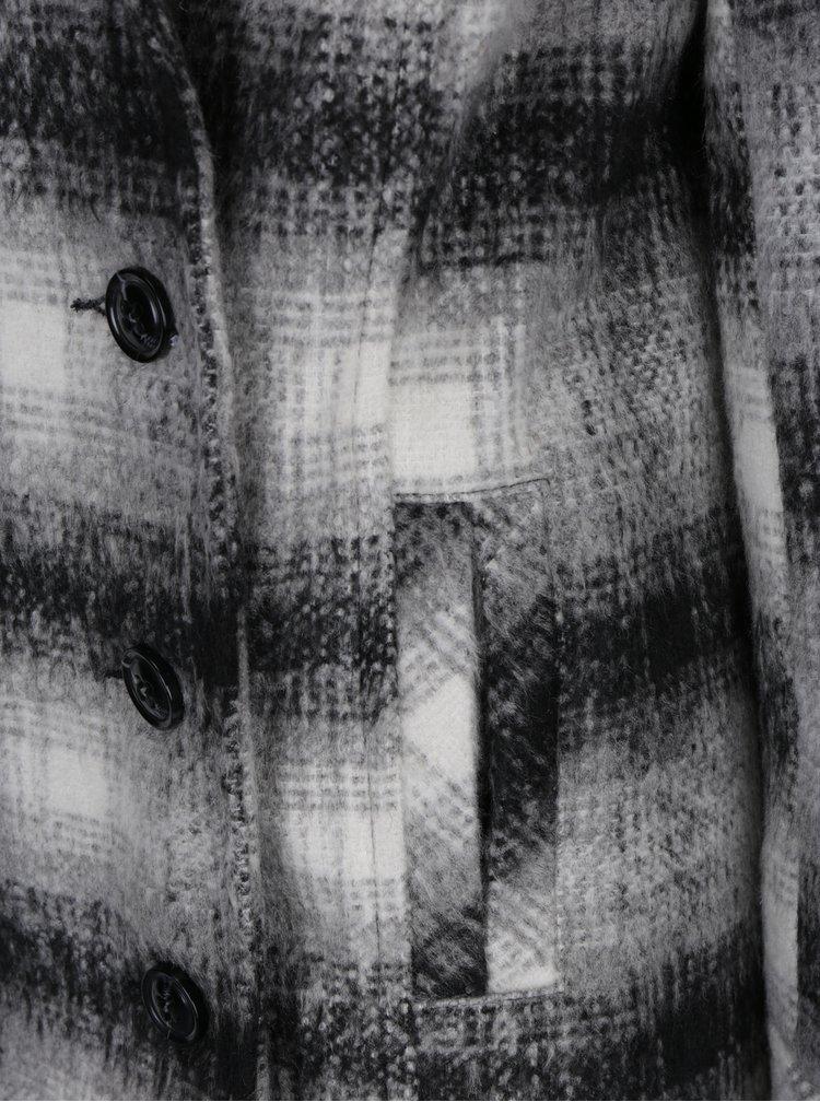 Šedý vzorovaný krátký kabát M&Co