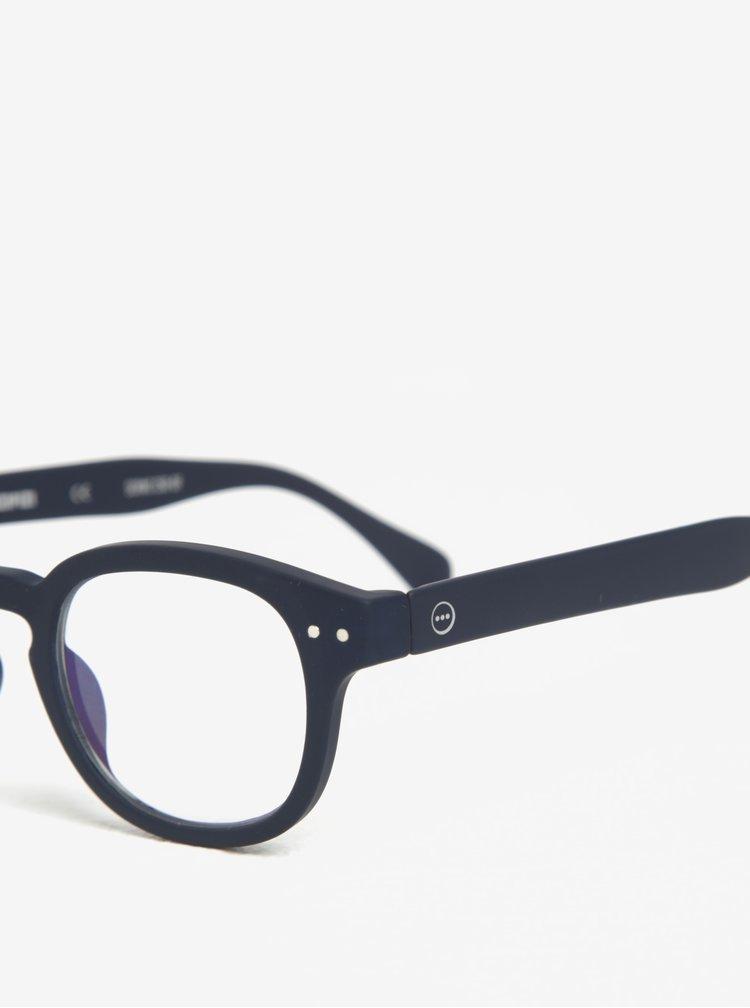 Tmavě modré unisex ochranné brýle k PC IZIPIZI #C