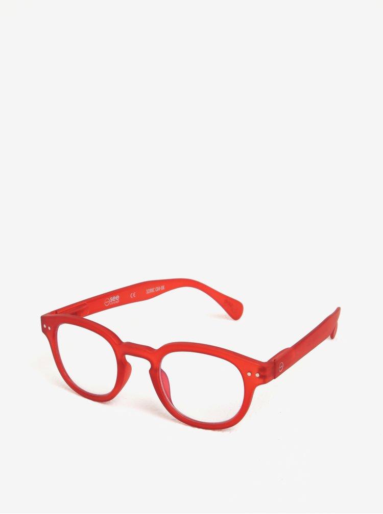 Červené unisex ochranné brýle k PC  IZIPIZI #C