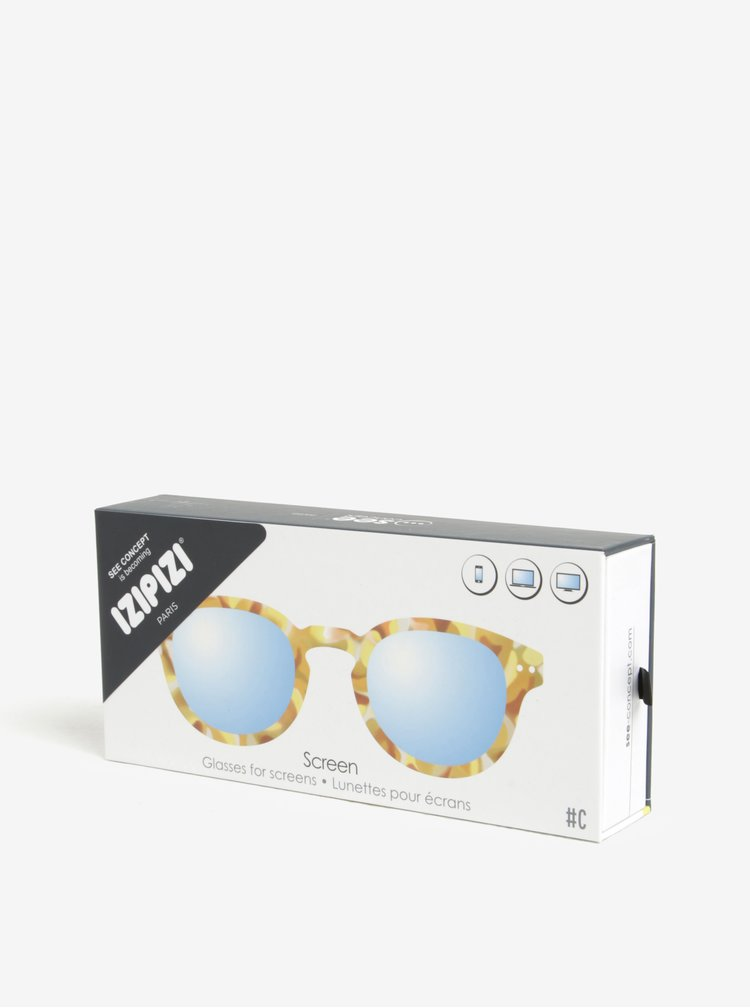 Hořčicové unisex maskáčové ochranné brýle k PC  IZIPIZI #C