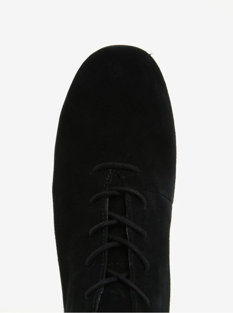 Černé dámské kotníkové semišové boty Camper Lucy