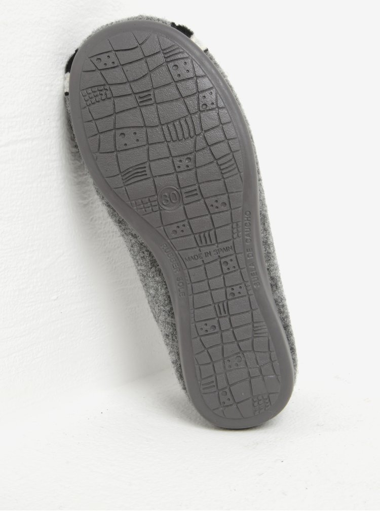 Šedé holčičí papuče s motivem mývala OJJU