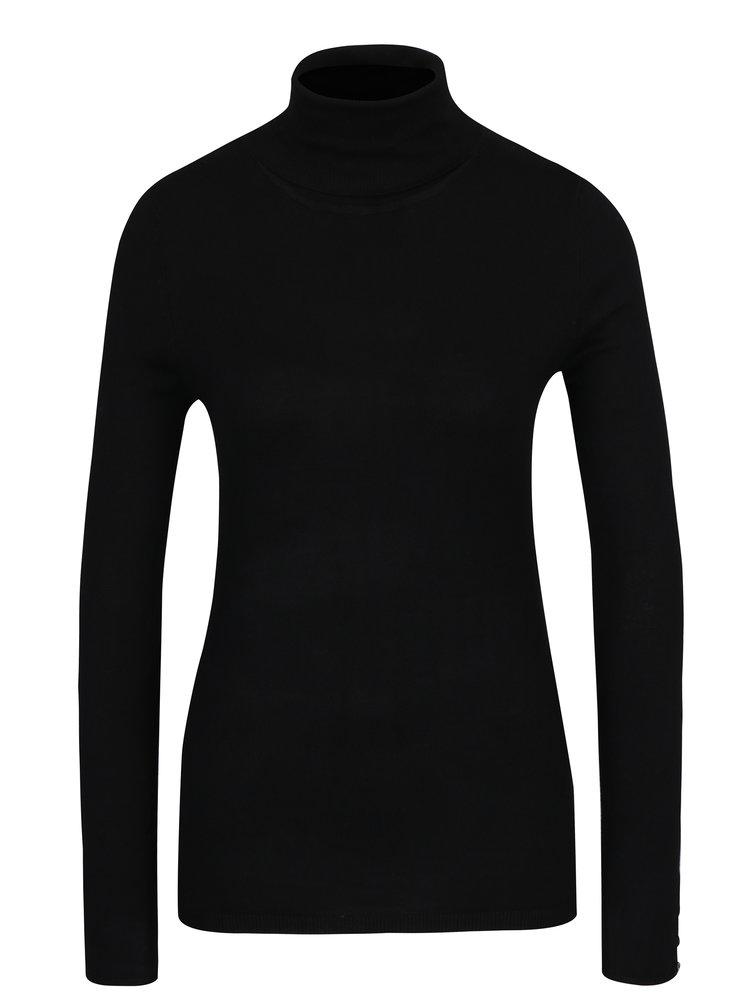 Bluza tricotata neagra cu guler inalt - Haily´s Ida