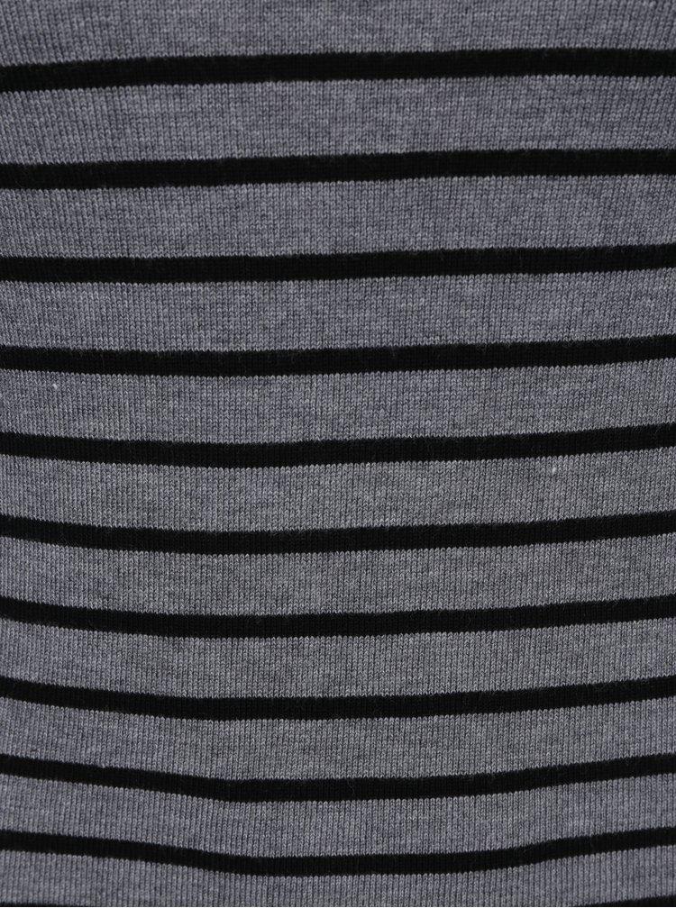 Čierno-sivý pruhovaný rolák Haily´s Ida