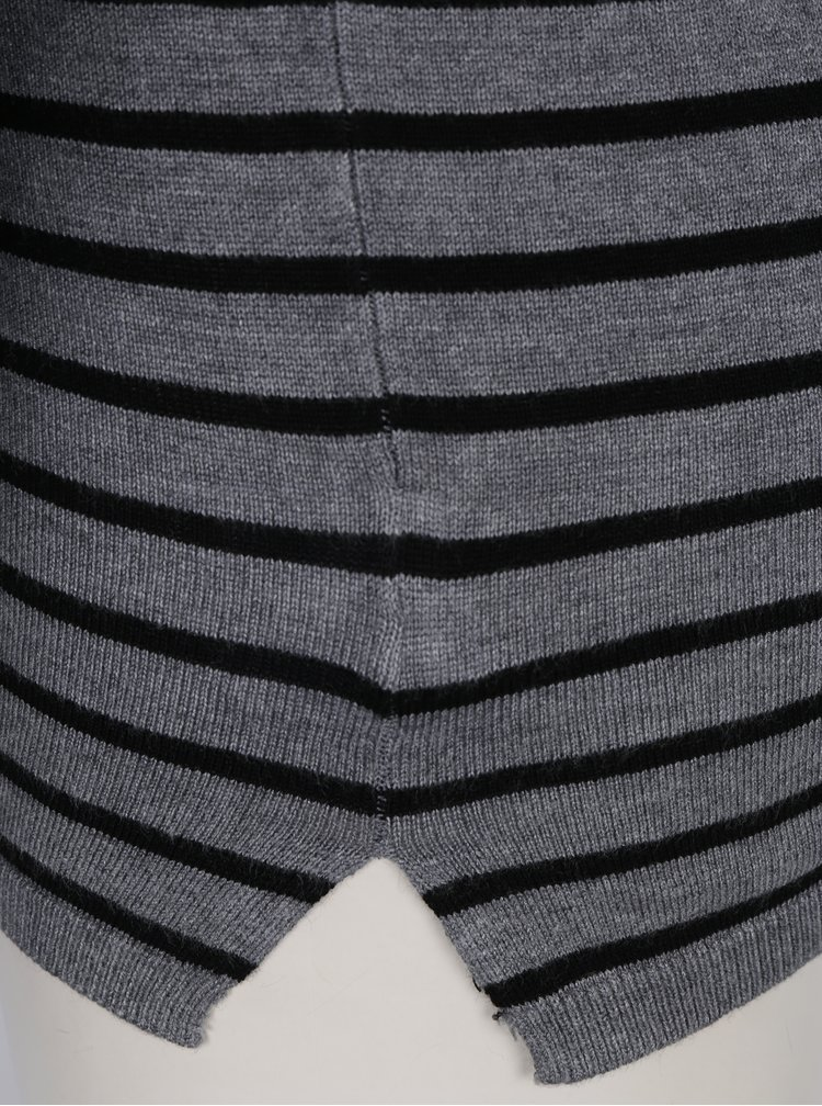 Černo-šedý pruhovaný rolák Haily´s Ida