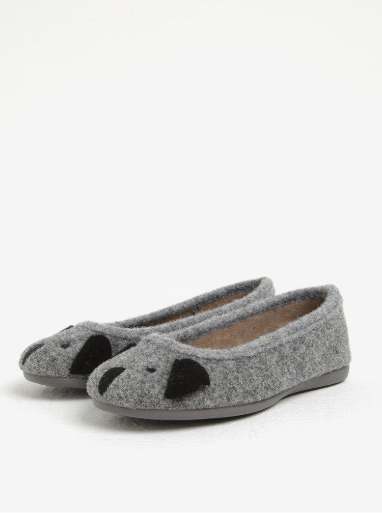 Šedé holčičí papuče s motivem koaly OJJU