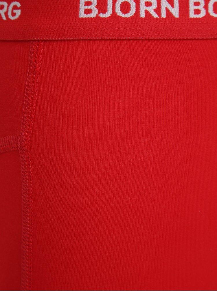 Set de 3 perechi de boxeri  alb rosu & negru - Björn Borg