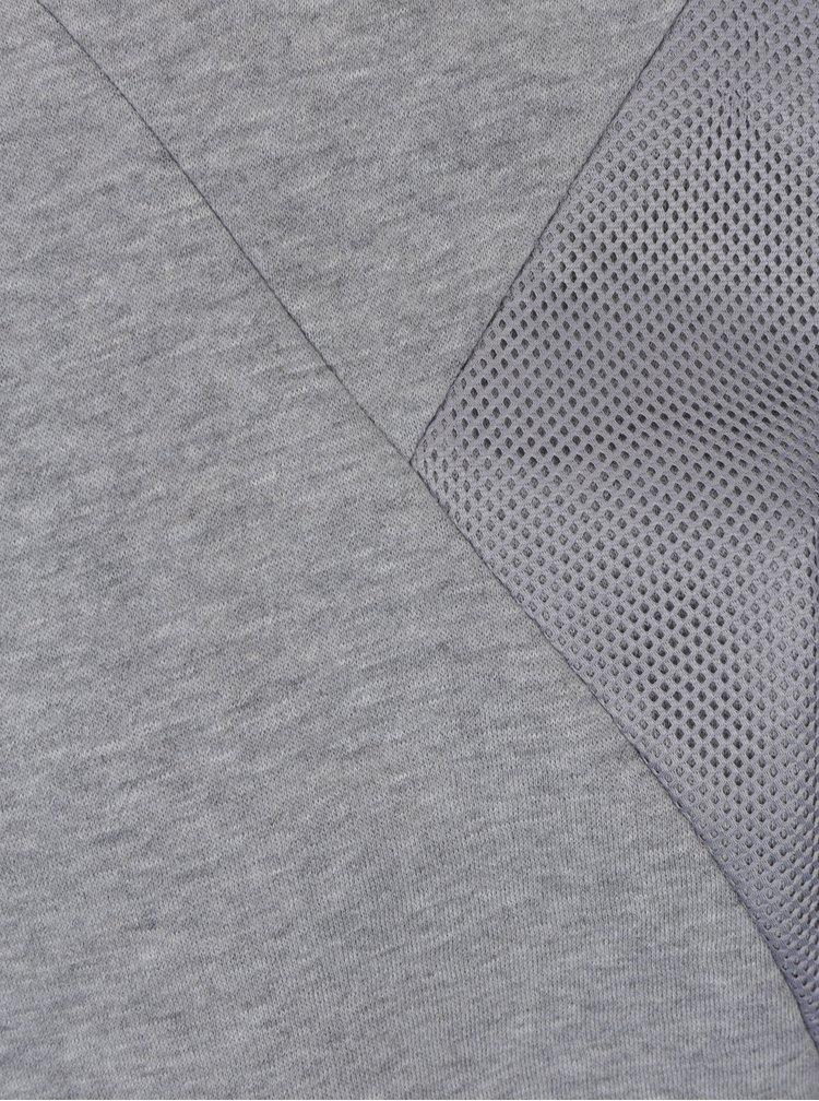 Světle šedá mikina se síťovanými detaily ONLY & SONS Travis