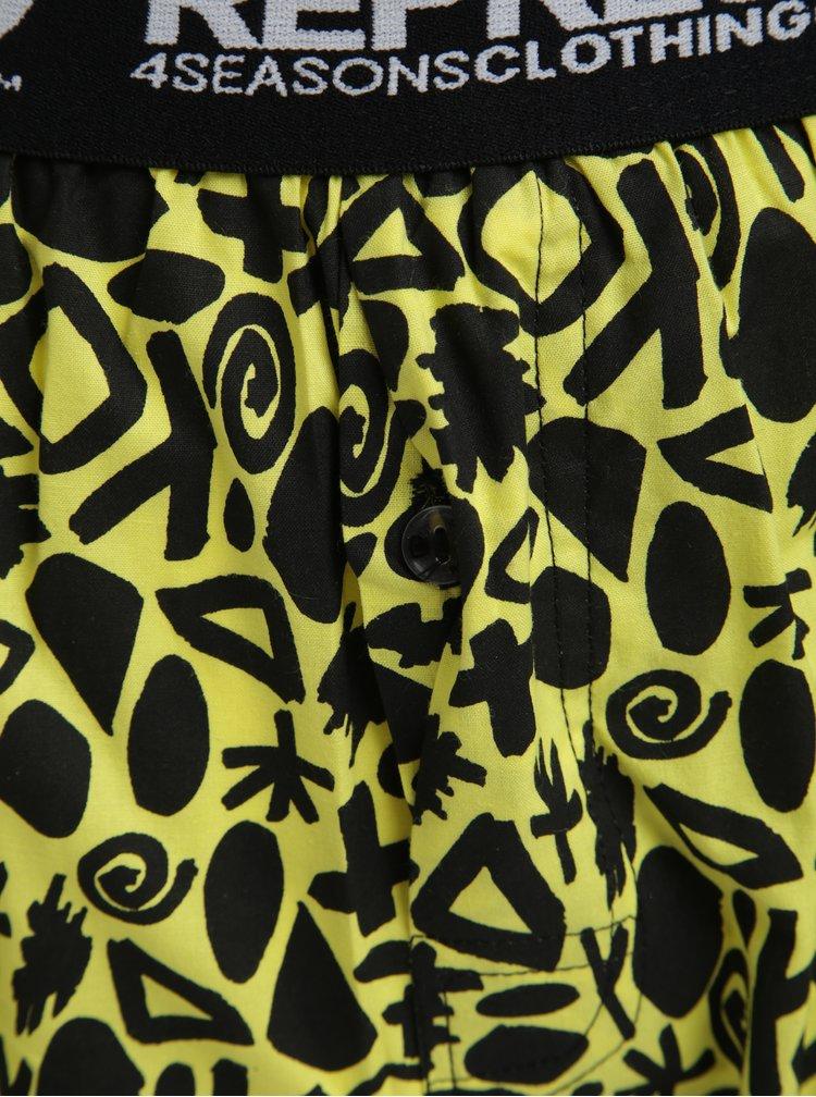 Černo-žluté vzorované trenýrky Represent Mike Abstract Jesus