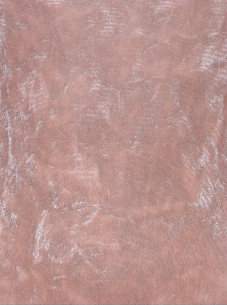 Body din catifea roz deschis cu maneci lungi - TALLY WEiJL