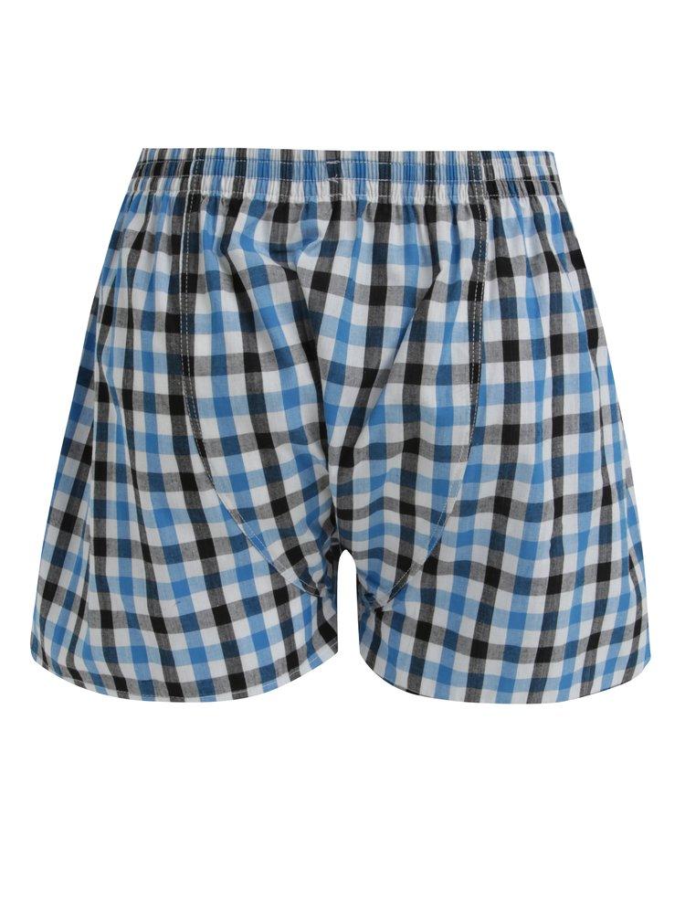 Boxeri cu carouri albastru & gri si talie elastica cu logo - Represent Alibox