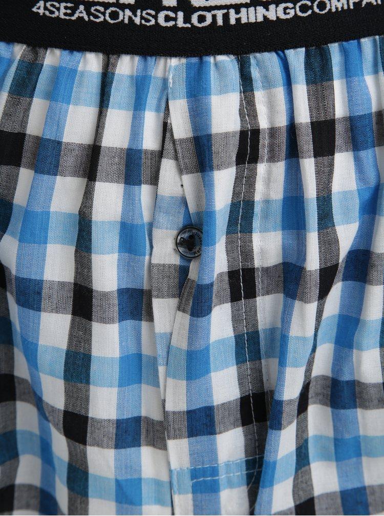 Modré kostkované trenýrky Represent Mikebox