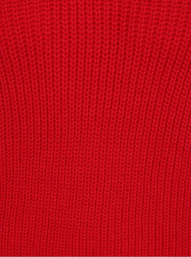 Červený svetr se šněrováním Miss Selfridge