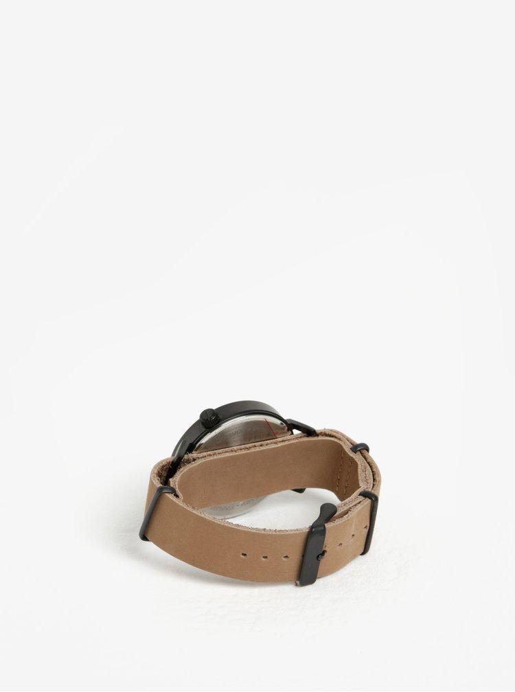 Unisex hodinky s béžovým koženým páskem Komono Magnnus