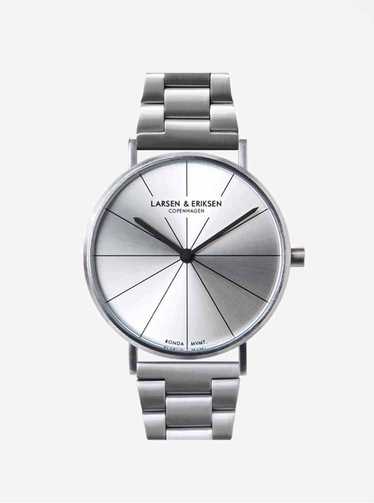 Unisex hodinky ve stříbrné barvě LARSEN & ERIKSEN 41 mm