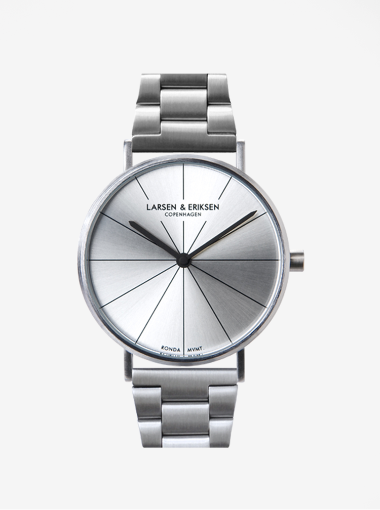 Unisex hodinky ve stříbrné barvě LARSEN & ERIKSEN 37 mm