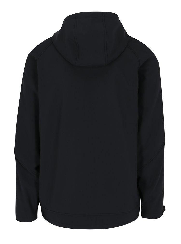 Jacheta neagra impermeabila cu gluga pentru barbati - NUGGET