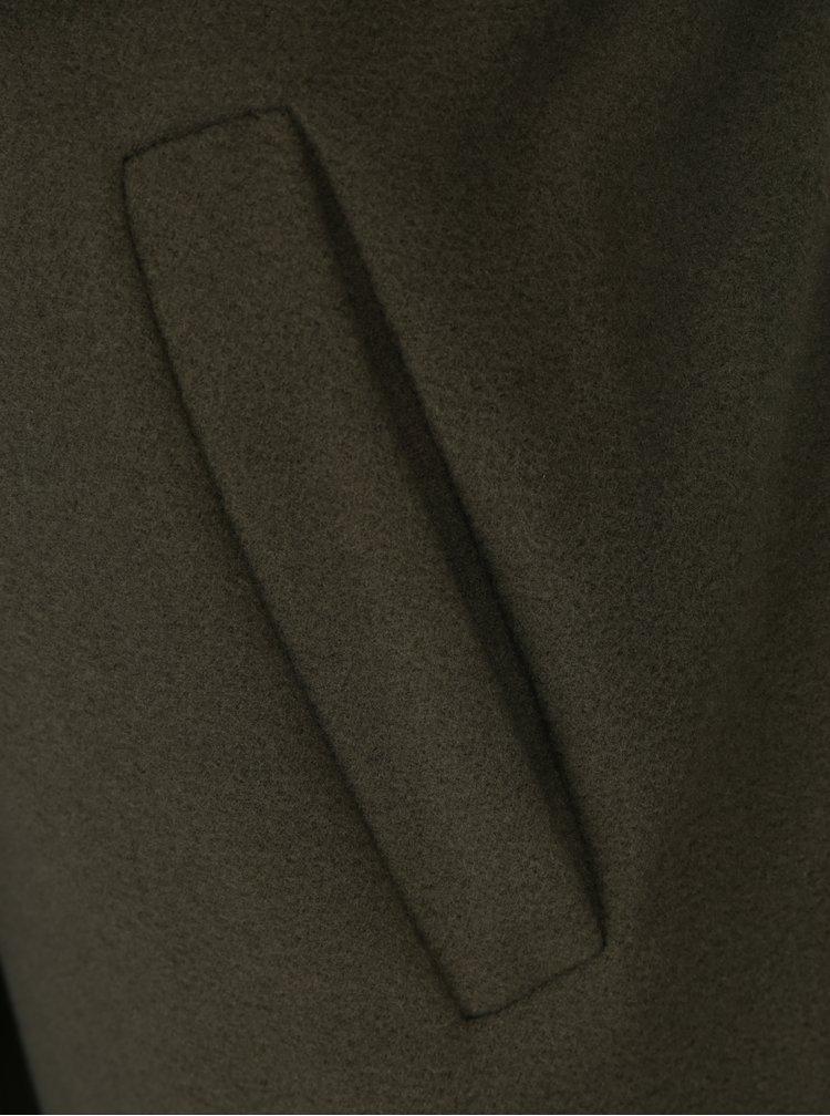 Khaki kabát se zavazováním v pase ZOOT