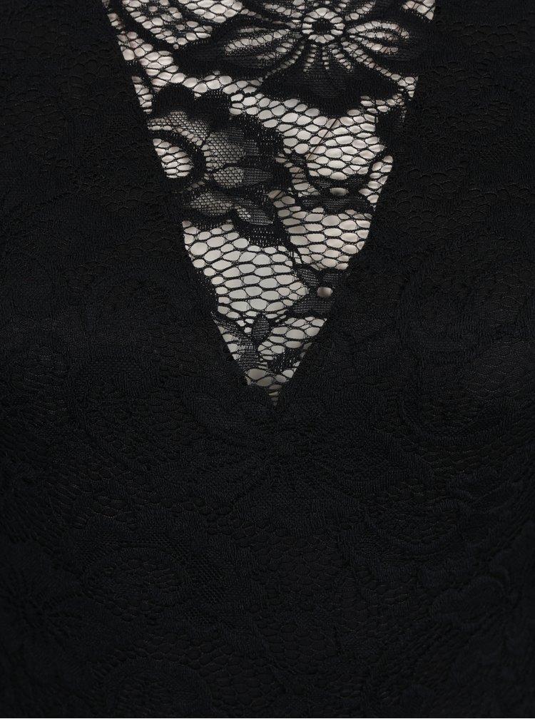 Černé krajkované body  Miss Selfridge Petites