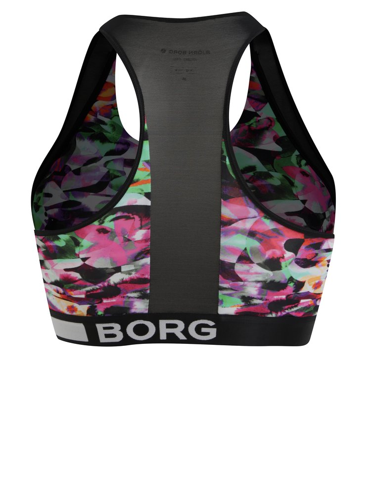 Černá sportovní vzorovaná podprsenka Björn Borg