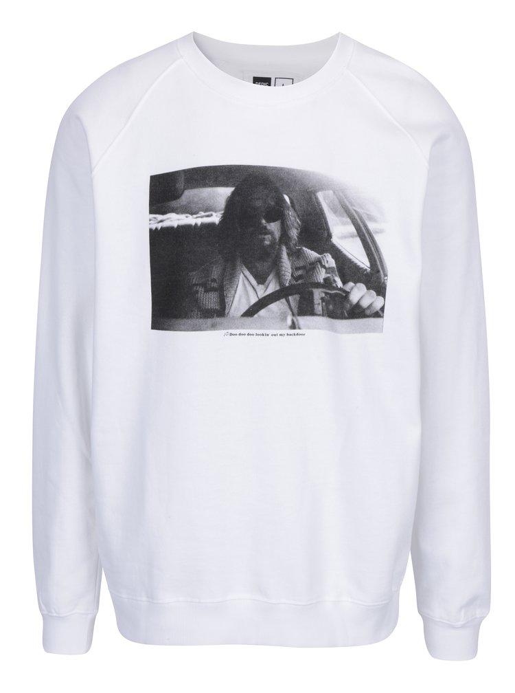 Bluza alba cu print imagine Dedicated Malmoe Car Crash