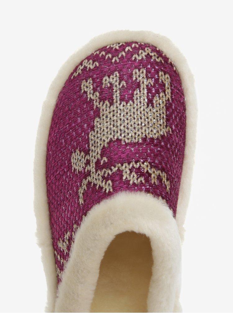 Růžové zateplené papuče OJJU
