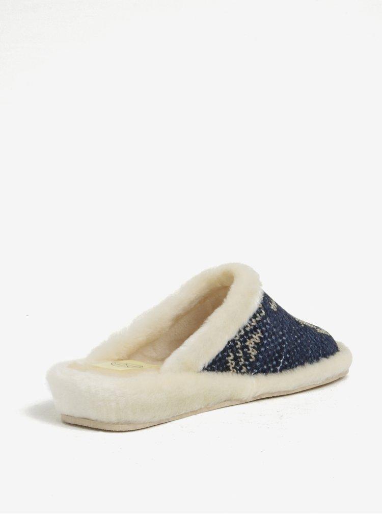 Tmavě modré zateplené papuče OJJU