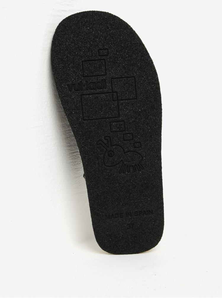 Černé dámské semišové papuče OJJU