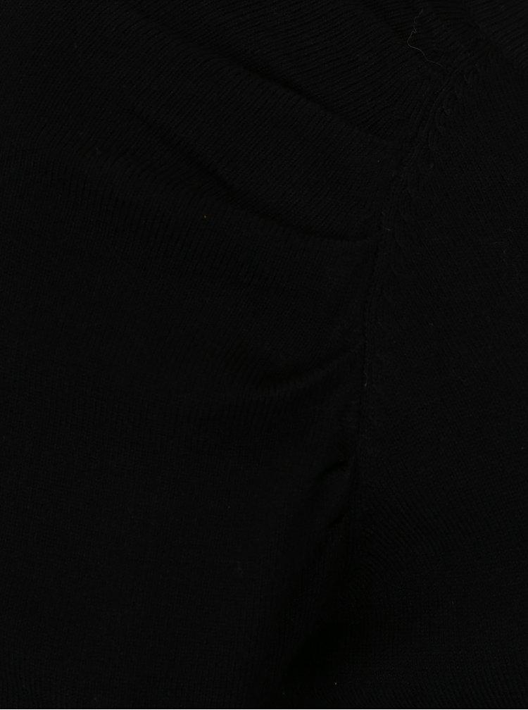 Černý krátký kardigan VILA Lost