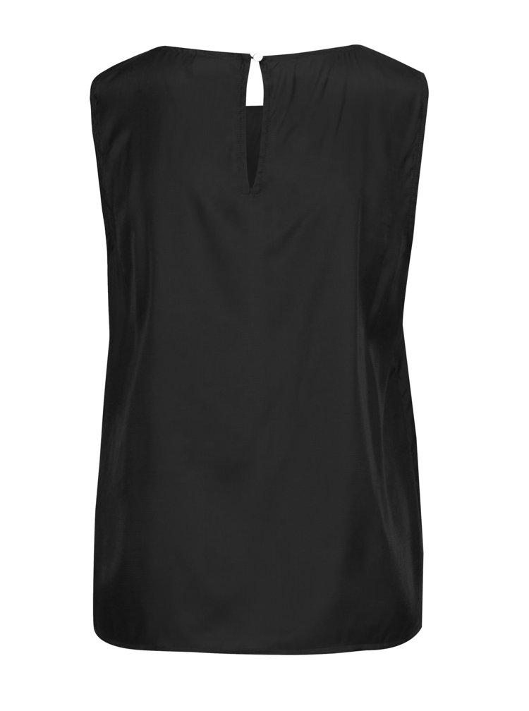 Černý lesklý top bez rukávů VILA Shimmer
