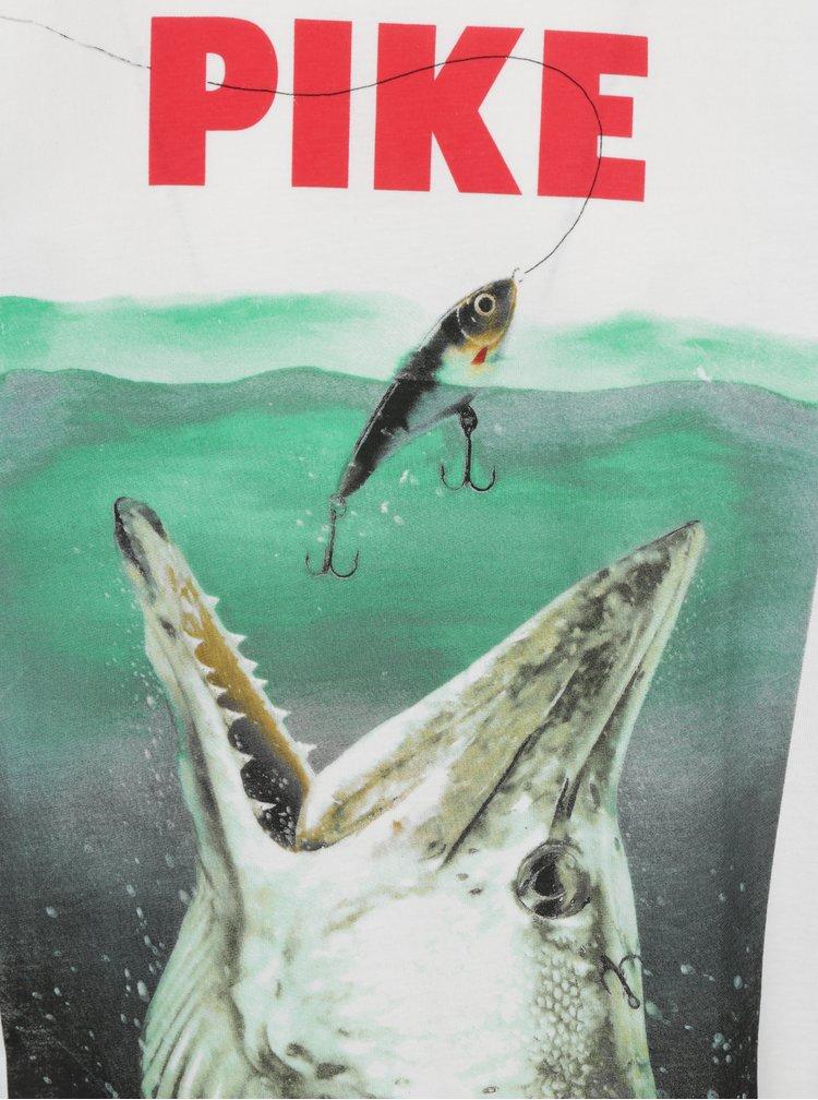 Krémové tričko s potiskem Dedicated Stockholm Pike